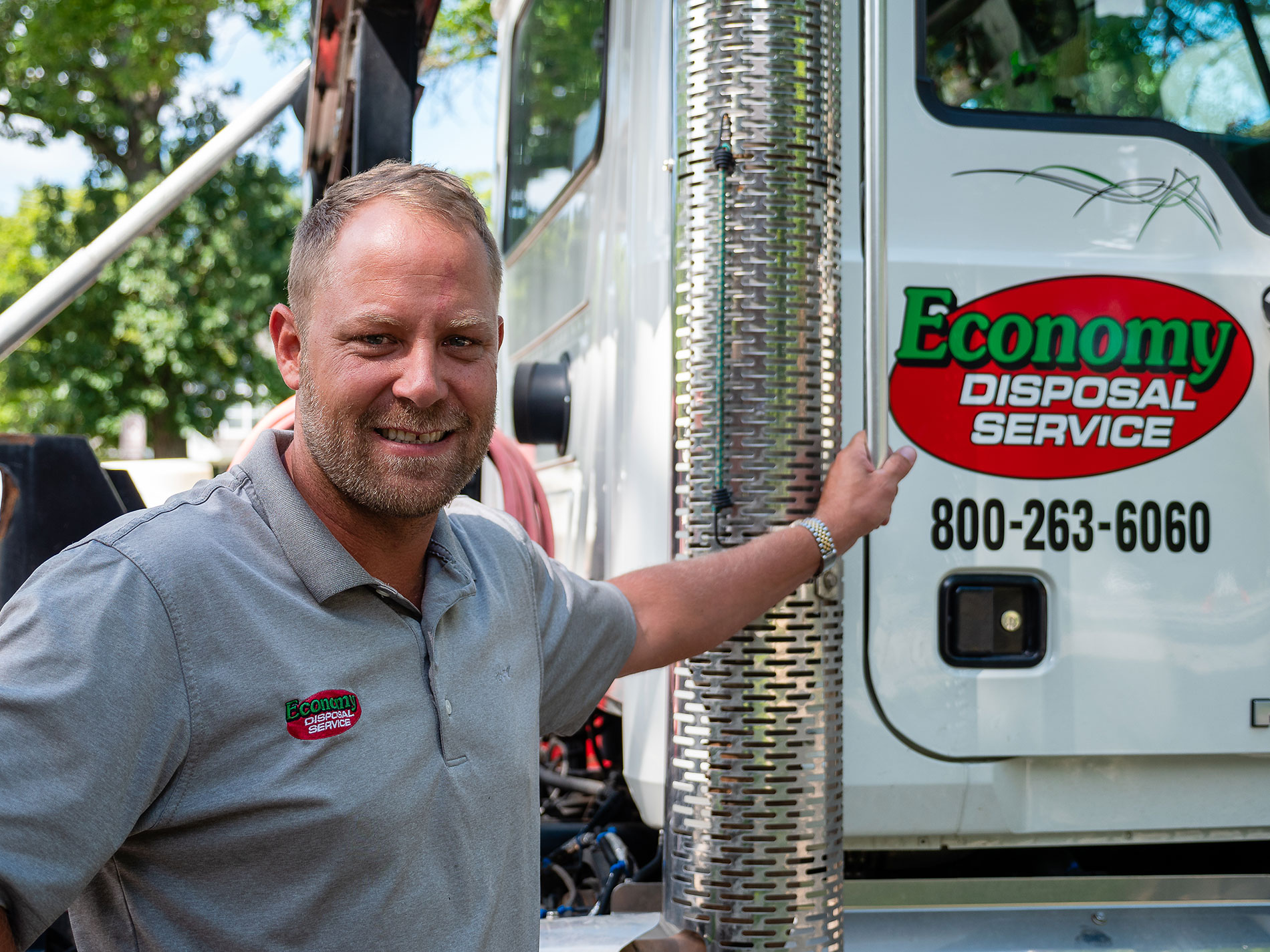 Photo of Ron Tazelaar, Owner of Economy Disposal Service